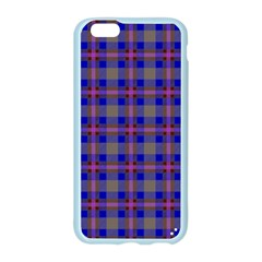 Tartan Fabric Colour Blue Apple Seamless iPhone 6/6S Case (Color)