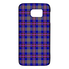 Tartan Fabric Colour Blue Galaxy S6