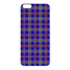 Tartan Fabric Colour Blue Apple Seamless iPhone 6 Plus/6S Plus Case (Transparent)