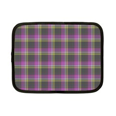 Tartan Fabric Colour Purple Netbook Case (small)