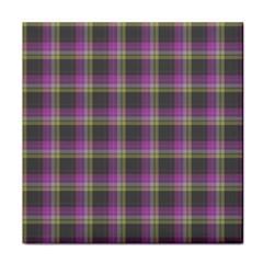 Tartan Fabric Colour Purple Face Towel
