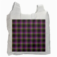 Tartan Fabric Colour Purple Recycle Bag (Two Side)