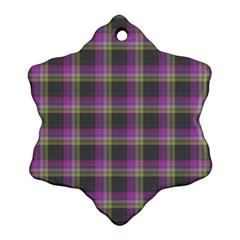 Tartan Fabric Colour Purple Ornament (Snowflake)
