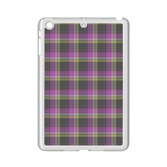 Tartan Fabric Colour Purple iPad Mini 2 Enamel Coated Cases