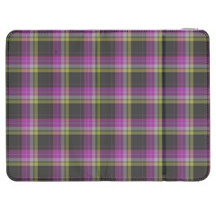 Tartan Fabric Colour Purple Samsung Galaxy Tab 7  P1000 Flip Case