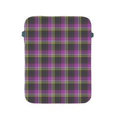Tartan Fabric Colour Purple Apple iPad 2/3/4 Protective Soft Cases