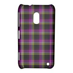 Tartan Fabric Colour Purple Nokia Lumia 620