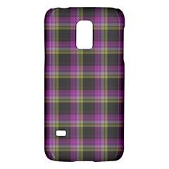 Tartan Fabric Colour Purple Galaxy S5 Mini