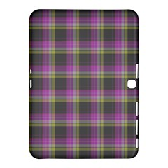 Tartan Fabric Colour Purple Samsung Galaxy Tab 4 (10.1 ) Hardshell Case