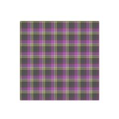 Tartan Fabric Colour Purple Satin Bandana Scarf