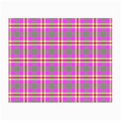 Tartan Fabric Colour Pink Small Glasses Cloth (2-Side)