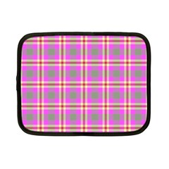 Tartan Fabric Colour Pink Netbook Case (Small)