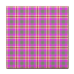 Tartan Fabric Colour Pink Face Towel