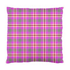 Tartan Fabric Colour Pink Standard Cushion Case (One Side)