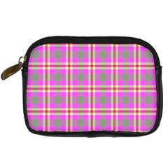 Tartan Fabric Colour Pink Digital Camera Cases