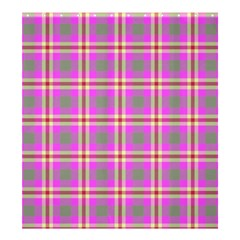 Tartan Fabric Colour Pink Shower Curtain 66  x 72  (Large)