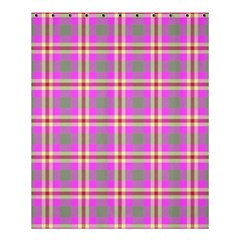 Tartan Fabric Colour Pink Shower Curtain 60  x 72  (Medium)