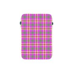 Tartan Fabric Colour Pink Apple Ipad Mini Protective Soft Cases