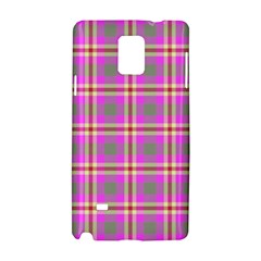 Tartan Fabric Colour Pink Samsung Galaxy Note 4 Hardshell Case