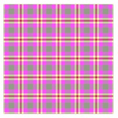 Tartan Fabric Colour Pink Large Satin Scarf (Square)