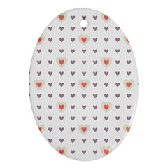 Heart Love Valentine Purple Pink Ornament (oval)