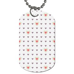Heart Love Valentine Purple Pink Dog Tag (Two Sides)