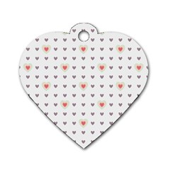 Heart Love Valentine Purple Pink Dog Tag Heart (One Side)