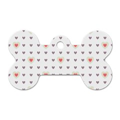 Heart Love Valentine Purple Pink Dog Tag Bone (One Side)