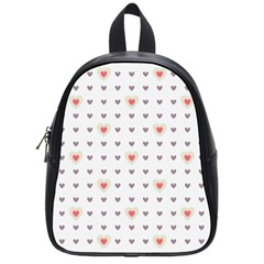 Heart Love Valentine Purple Pink School Bags (Small)