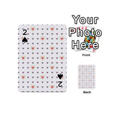 Heart Love Valentine Purple Pink Playing Cards 54 (Mini)