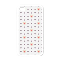 Heart Love Valentine Purple Pink Apple iPhone 4 Case (White)