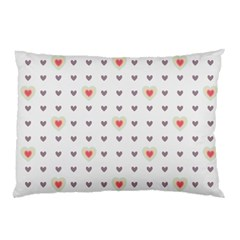 Heart Love Valentine Purple Pink Pillow Case (Two Sides)