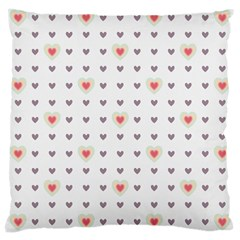 Heart Love Valentine Purple Pink Large Cushion Case (One Side)