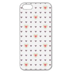 Heart Love Valentine Purple Pink Apple Seamless iPhone 5 Case (Clear)
