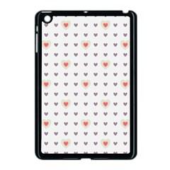 Heart Love Valentine Purple Pink Apple iPad Mini Case (Black)