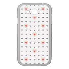 Heart Love Valentine Purple Pink Samsung Galaxy Grand DUOS I9082 Case (White)