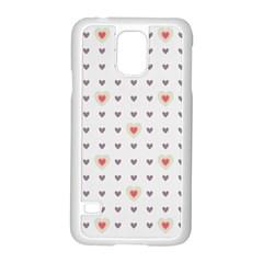 Heart Love Valentine Purple Pink Samsung Galaxy S5 Case (White)