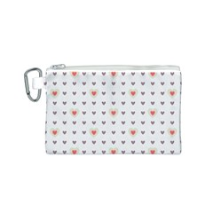 Heart Love Valentine Purple Pink Canvas Cosmetic Bag (S)