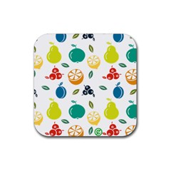 Fruit Lime Rubber Square Coaster (4 pack)