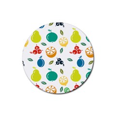 Fruit Lime Rubber Round Coaster (4 pack)