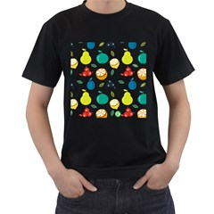 Fruit Lime Men s T-Shirt (Black) (Two Sided)