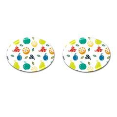 Fruit Lime Cufflinks (Oval)