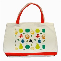 Fruit Lime Classic Tote Bag (Red)