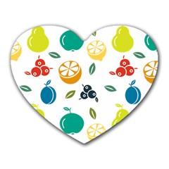 Fruit Lime Heart Mousepads