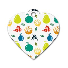 Fruit Lime Dog Tag Heart (One Side)