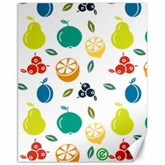 Fruit Lime Canvas 11  x 14