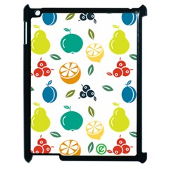Fruit Lime Apple iPad 2 Case (Black)