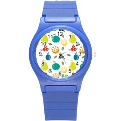 Fruit Lime Round Plastic Sport Watch (S)