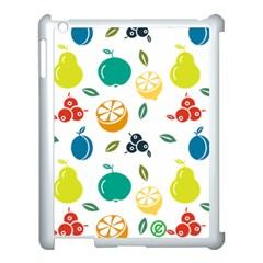 Fruit Lime Apple iPad 3/4 Case (White)