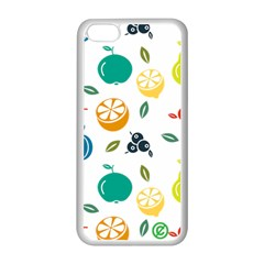 Fruit Lime Apple iPhone 5C Seamless Case (White)